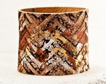 Tattoo Cover Armband Leather Bracelet - Women's Cuff Wristband Modern Gypsy Fashion