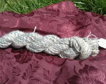 Grey & White Wool Handspun