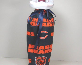 Chicago Bears Class Wrap Wine Gift Bag