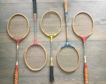 Vintage collection wood bad mitten rackets wooden raquet