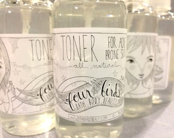 All Natural Facial Toner { acne toner / acne treatment / all natural skin care / oily skin toner / ance treatment }