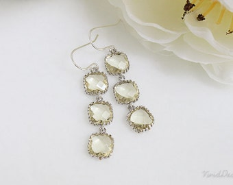 Light Yellow Earrings, November Birthstone, Bridesmaids Gifts
