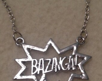 Big Bang Theory Bazinga Necklace, Sheldon Cooper Quote