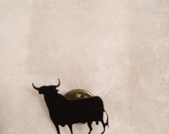 Vintage Unique black bull Spain/Madrid style brooch/pin