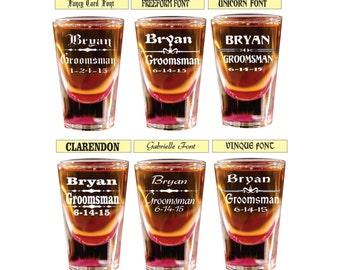 13 groomsmen shot glasses engraved shot glass custom shot