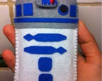 Mobile case inspired by R2D2