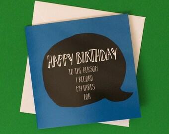 fart card for boyfriend, funny birthday card for him, sister birthday card, unique birthday card, 12cm square
