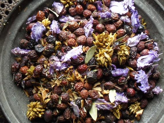 Lemon & Lavender Potpourri -  primitive bowl fillers with refresher oil