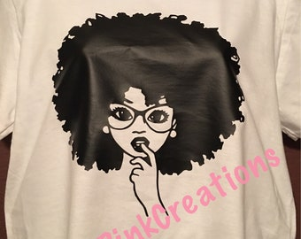 Afro Girl with glasses
