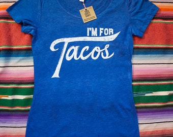 I'm for Tacos Shirt-Royal Blue Heather