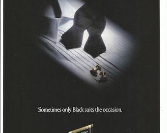 1993 Advertisement Johnnie Walker Black Black Tie Formalwear Mens Tuxedo Label Scotch Spirits Liquor Bar Pub Restaurant Wall Art Decor