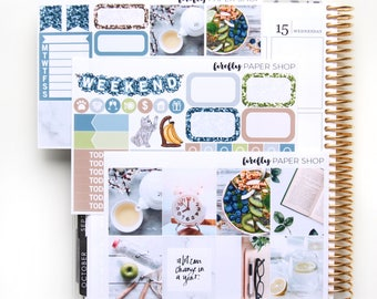 Fresh Start MINI Weekly Kit (stickers for Erin Condren Life Planner - Vertical)