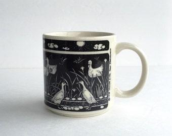 Vintage Taylor & Ng Primitive Ducks Mug