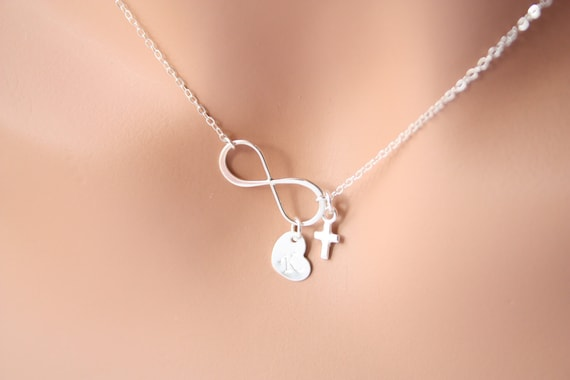 p cross pendant for figures necklace at infinity women symbol
