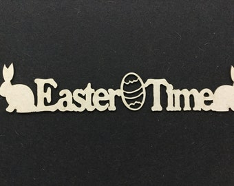 Easter/Chipboard/26cmx5cm/2Crafty/Scrapbook/Cards/Craft/Eggs/Bunny/Rabbit/Celebrations/Off Page Project/Stationery/
