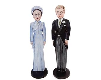 Duke and Duchess of Windsor Hand Painted 2D Art Figurines