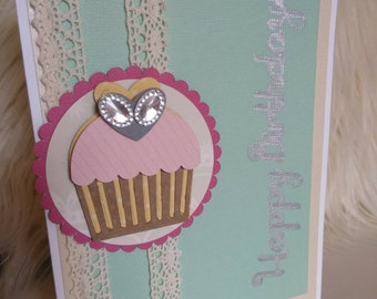 Happy Birthday Greeting Card Handmade 5x7""