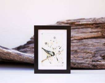 1 - small black chickadee