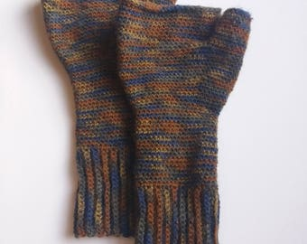Puzzle Gloves - Crochet Pattern For Fingerless Gloves - 4ply Fingering Sock Yarn PDF