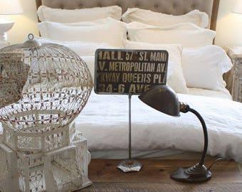 Industrial Chic Antique Metal Desk Lamp Restoration Hardware European Lighting