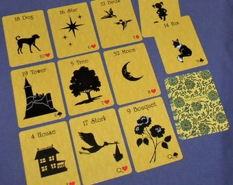 Mellow Yellow Lenormand Fortune Telling Oracle 36 Cards by Lynn Boyle