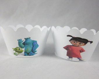 Set of 12 Monsters, Inc. cupcake wrappers