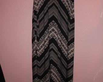 Earth Tone Patterned Maxi Skirt