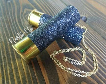 Glitter 12 Gauge Shotgun Shell Rear View Mirror Hanger /Charm, rearview mirror charm, rustic, dangle, car accesories, truck accesories