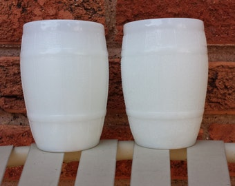 Milk Glass Barrel Glasses