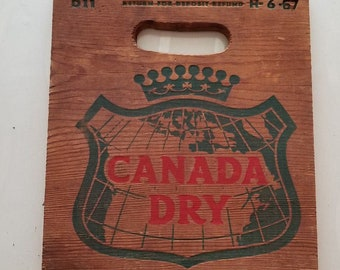 Vintage Beverage Crate Canada Dry Wooden Crate Advertising Box Wooden Soda Advertising Beverage Wood Crate Canada Dry Soda Crate Vintage