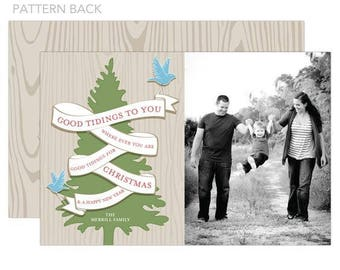 Good Tidings Holiday Photo Card, Printable