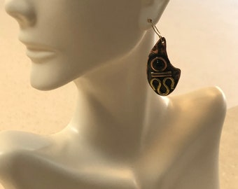 Copper and Brass Handmade Earrings