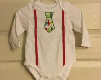 Infant boys embroidered embellished onesie