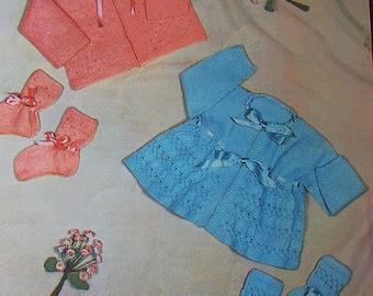 LAVENDA 312  Baby Coats Original Vintage Knitting Pattern