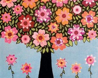 Tree Art Print, Nursery Art Print, Art for Nursery, Baby Girl Nursery Art, Flowering Tree Art Print, Baby Nursery Decor, Children Decor