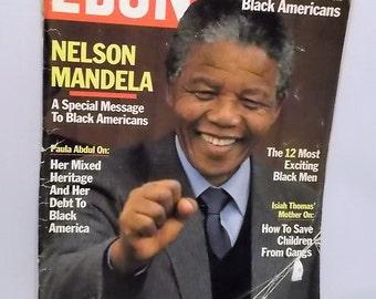 Nelson Mandela on Ebony Magazine