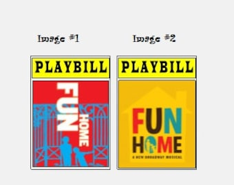 Theater / Show Charm - Playbill Play Bill - Fun Home