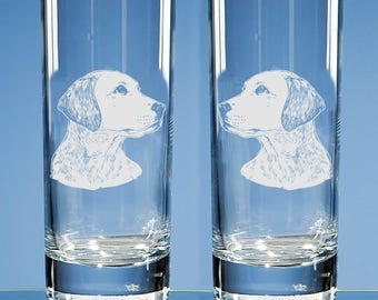 Set of 2 Labrador Retriever Highball Glasses, Dog Lover Gift, Engraved Labrador Gift for Dog Lovers, Labrador Dog Gift, Gift for Couple