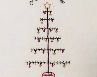 "5x7""  'O Christmas Tree' embroidery pattern"