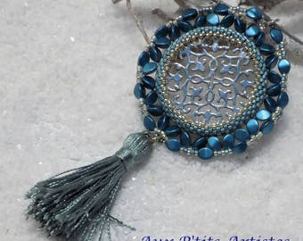 "Pendant ""Aksy"" petrol blue"