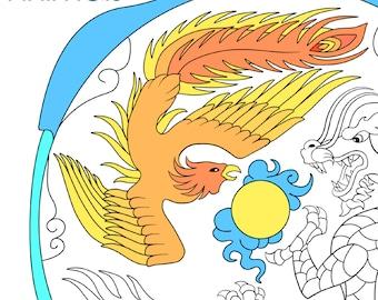 MANDALAS - ANIMALS - printable coloring book - 8 pages - ADVANCED level - digital download - healing art