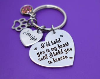 Pet Memorial Gift - Personalized Pet loss Gifts keychain - Dog - Cat - Jewelry - Dog Remembrance - Fur Baby - In Memorial - Sympathy Gift