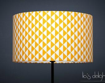 Abat-jour géométrique scandinave triangles jaune, abatjour, abat jour