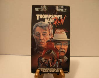 Thompson's Last Run, VHS Tape, Color, Full Screen, Robert Mitchum, Wilford Brimley, Free Shipping