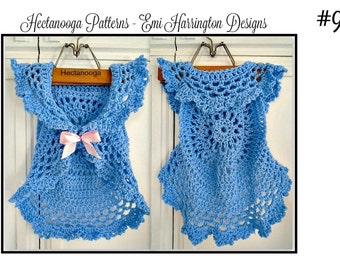 PATTERNS, Crochet Pattern, Bohemian Mandala Vest,  kids, child, children, 2 to 8 yrs, crochet for girls, one hour vest, sweater vest,#986