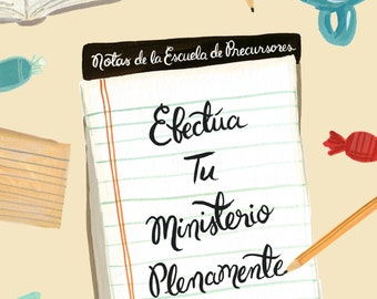 Wire Bound Notebook - Efectua Tu Ministerio Plenamenta 2 Timoteo 4:5 - Escuelas de Precursores, JW Gift, Pioneer Gift, Testigos De Jehova