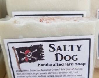 Salty Dog grapefruit lavender eucalyptus handcrafted beer lard soap