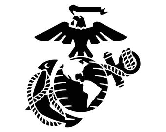 Eagle Globe Anchor USMC Marine Corps SVG Cricut Silhouette dxf eps png cdr ai pdf vector clipart instant download digital print