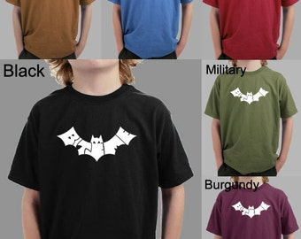 Boy's T-shirt - Bat design created out of the words Bite Me