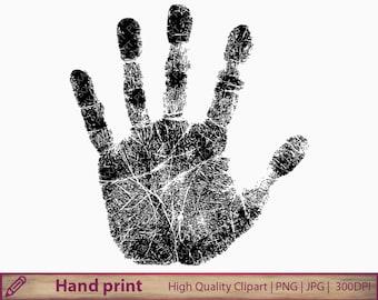 Hand print clipart, handprint clip art, fingerprint , scrapbooking, commercial use, digital instant download, jpg png 300dpi